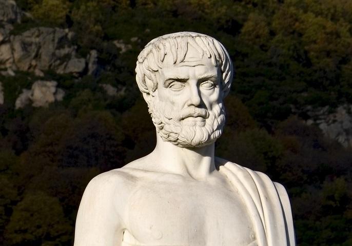 Antike Statue des Philosophen Aristoteles